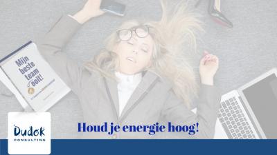 Houd je energie hoog en verminder je stress